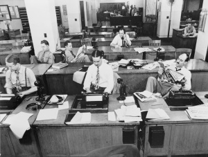 The New York Times newsroom 1942