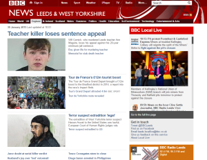 BBC home page Leeds West Yorks January 30